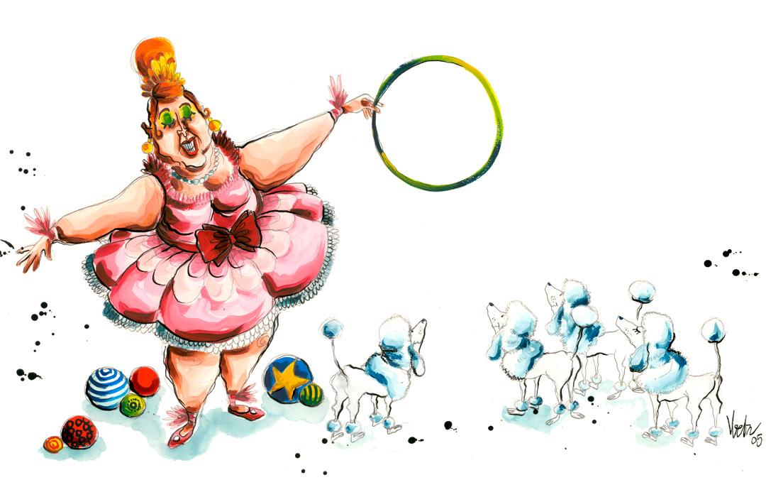 Madame Martine!!….y sus increíbles caniches!!