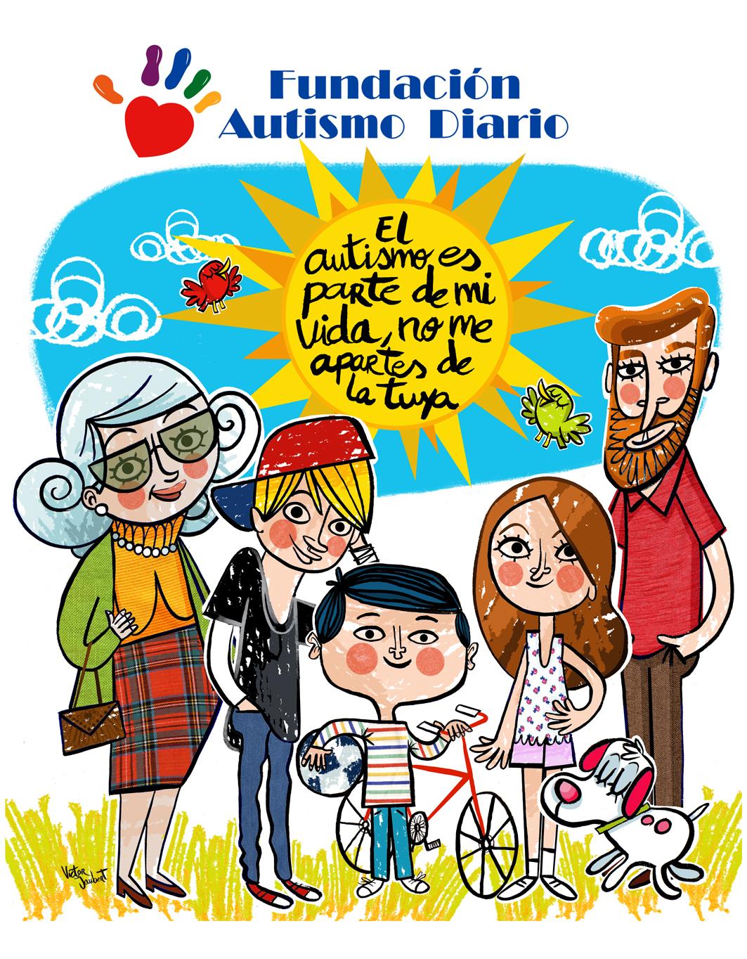 Campaña para Fundación Autismo Diario en Canarias.