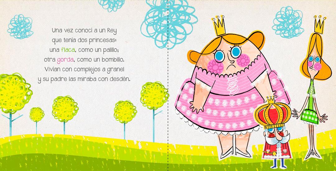"""Página interior  de """"Las princesas caprichosas"""""""