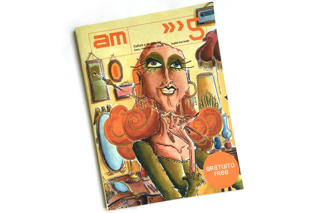 Portada para la Revista  de Cultura y Tendencias, AM. Enero 2003