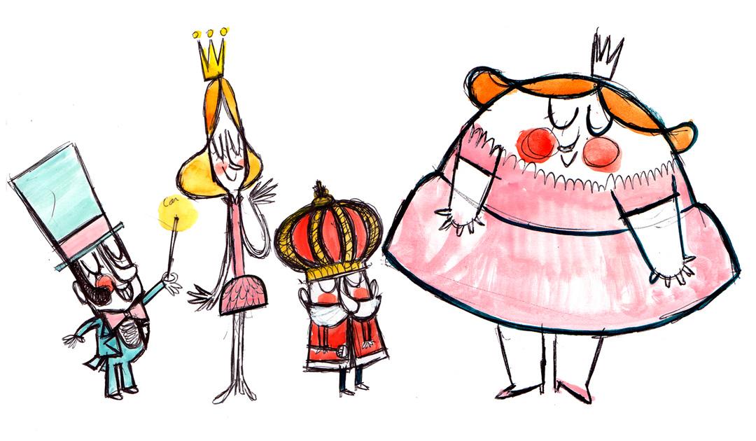 """Bocetos de """"Las princesas caprichosas"""""""
