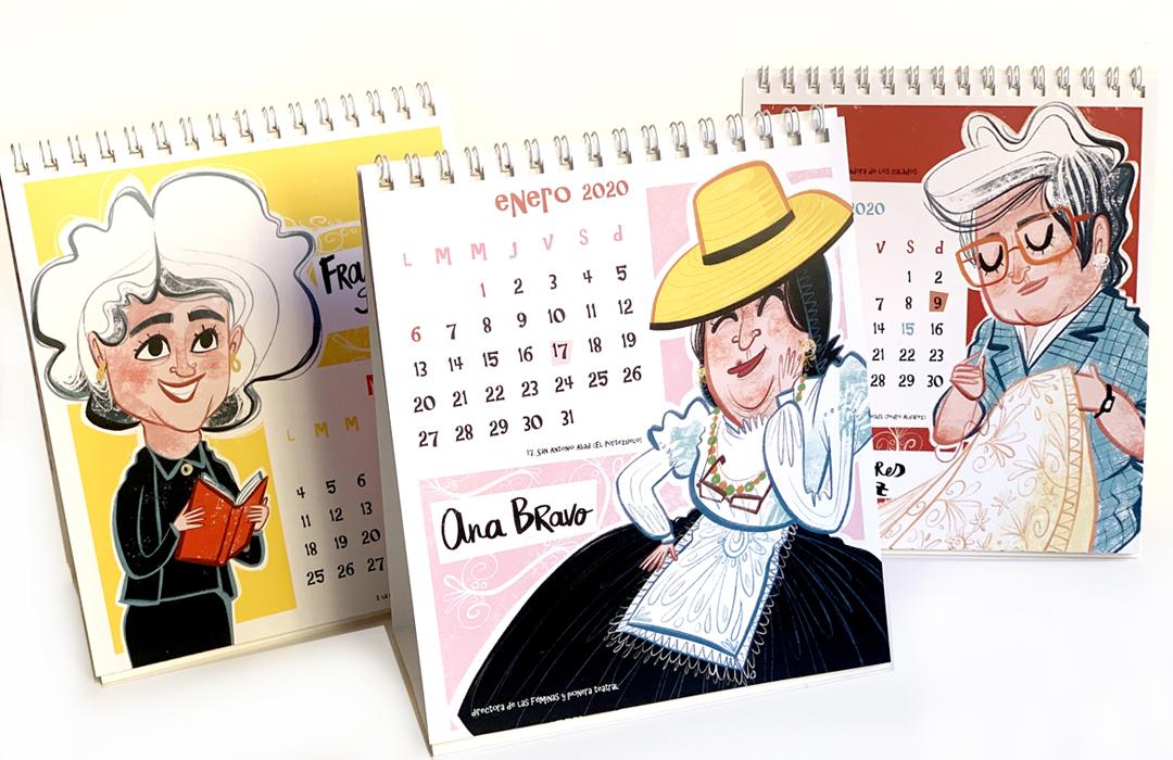 """Calendario """"Mujeres teguesteras"""", colaboración con el Ayto. de Tegueste."""