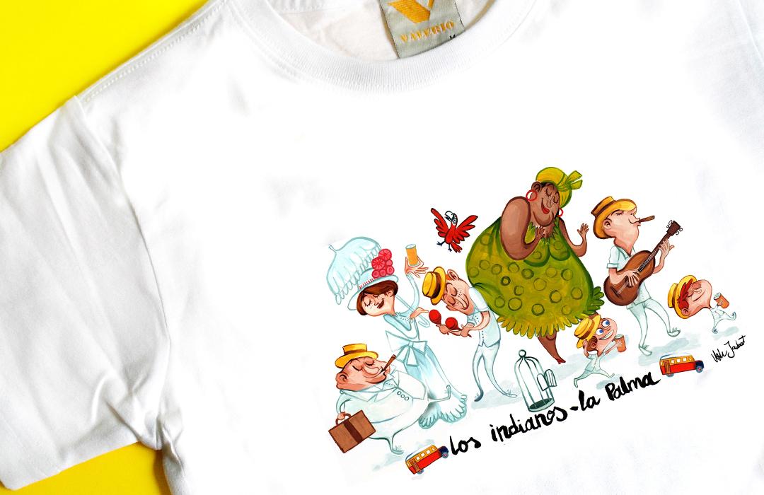 Camiseta con motivo Los Indianos