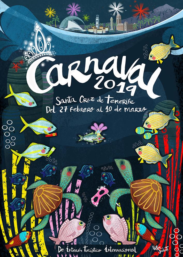 Propuesta para cartel anunciador del carnaval en Tenerife 2019