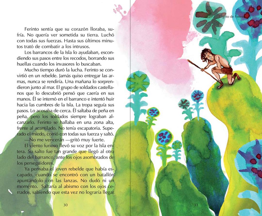 """Página interior """" Leyendas Canarias """""""