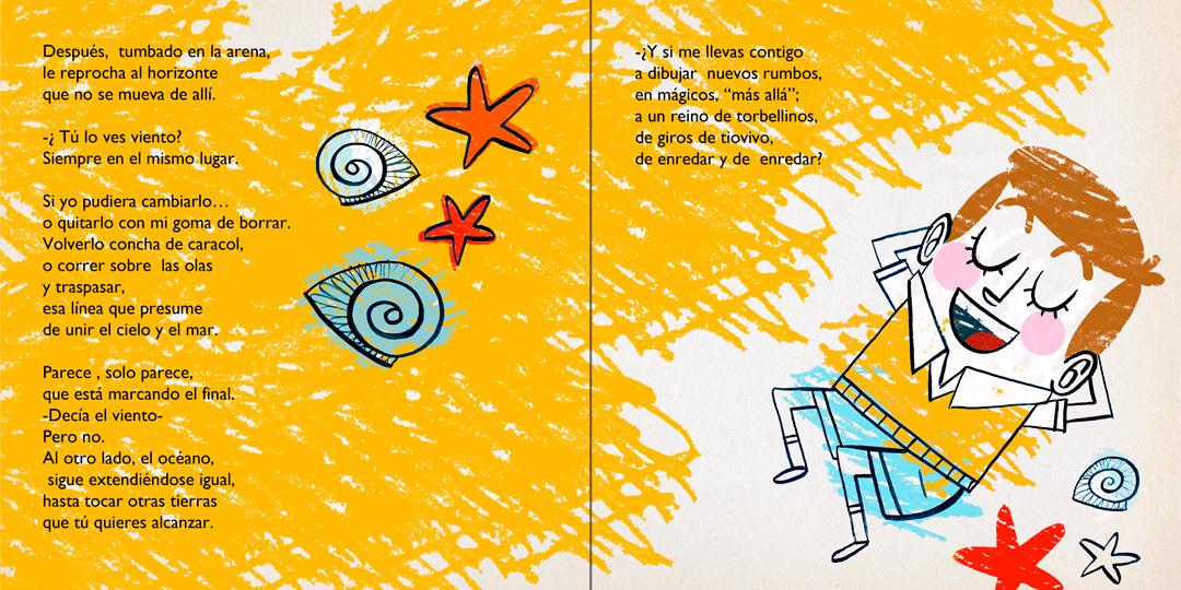 """Página interior """"Martín Chirino el niño que quería mover el horizonte"""""""
