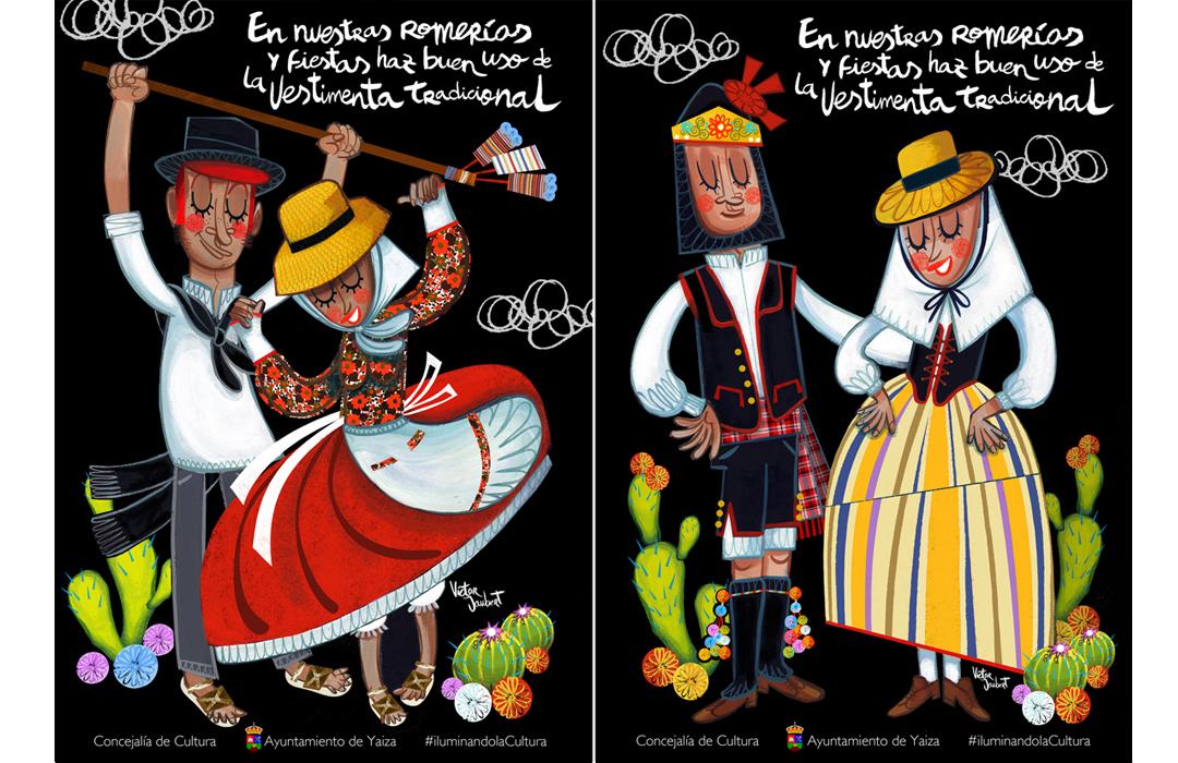Campaña realizada por el Ayto. de Yaiza, para el buen uso de la vestimenta tradicional.