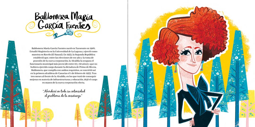 """Páginas interiores de """"Mujeres Canarias"""""""